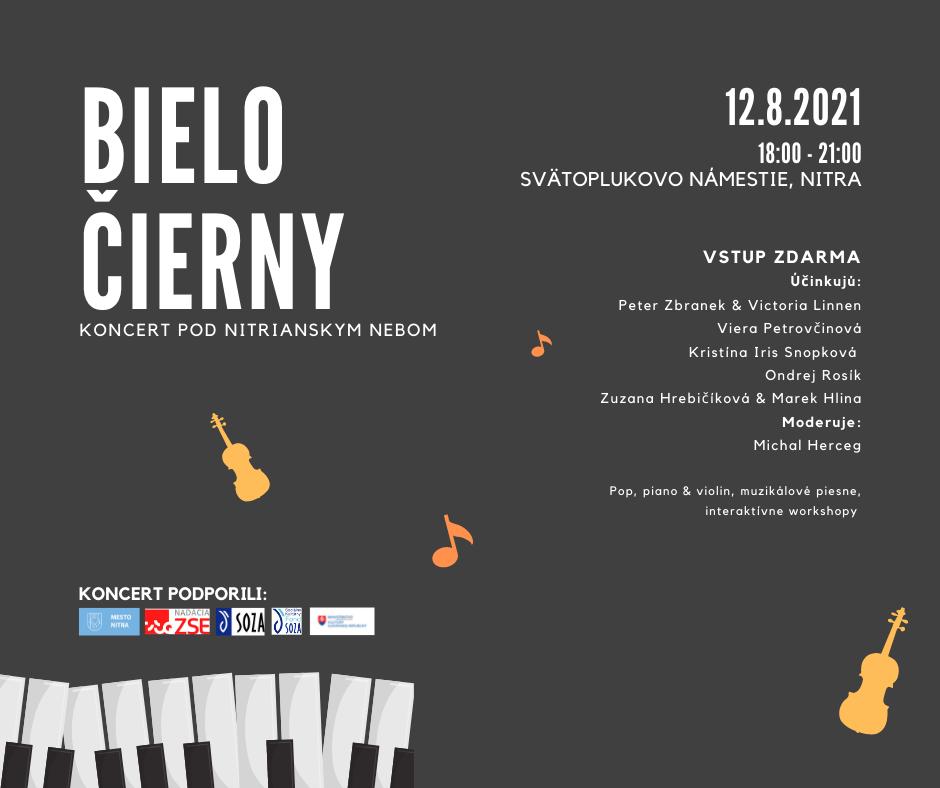 Bielo-čierny koncert pod nitrianskym nebom, plagát