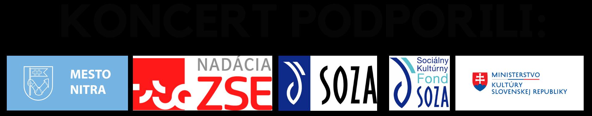 Bielo-čierny koncert pod nitrianskym nebom podporili Ministerstvo kultúry SR, mesto Nitra, Nadácia ZSE a SOZA